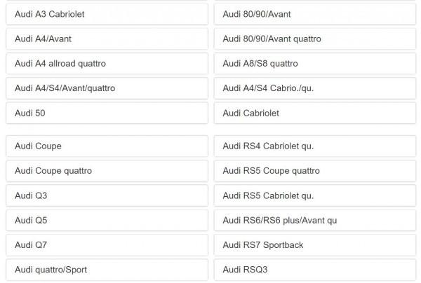 AUDI アウディ パーツリスト オンライン版 A1 A2 A3 A4 A5 A6 A7 A8 S3 S5 S6 Q3 Q5 Q7 R8 RS3 RS4 RS5 RS6 RS7 TT クワトロ 100 200 EPC_画像3