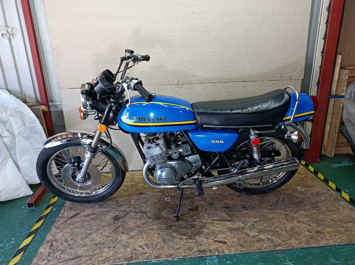 「【登録書類有】【レストアベース】 KAWASAKI S2 350SS 73年3月 旧車/希少価値 」の画像1