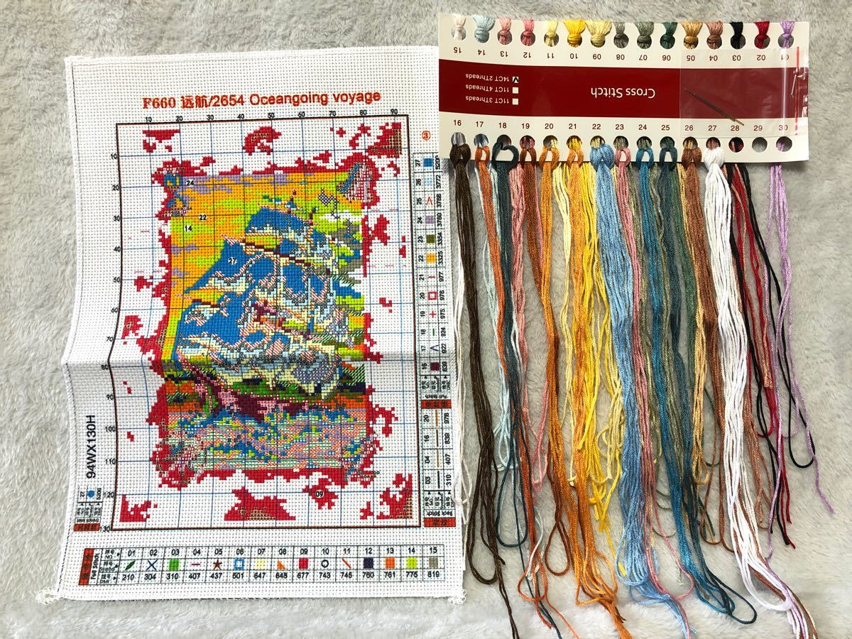 クロスステッチ刺繍キット(F660)14CT