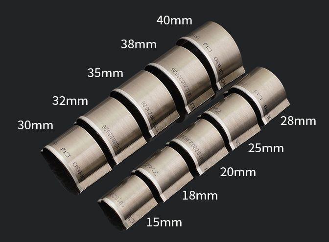 レザークラフト 抜き型 円弧 エンドポンチ 10個セット