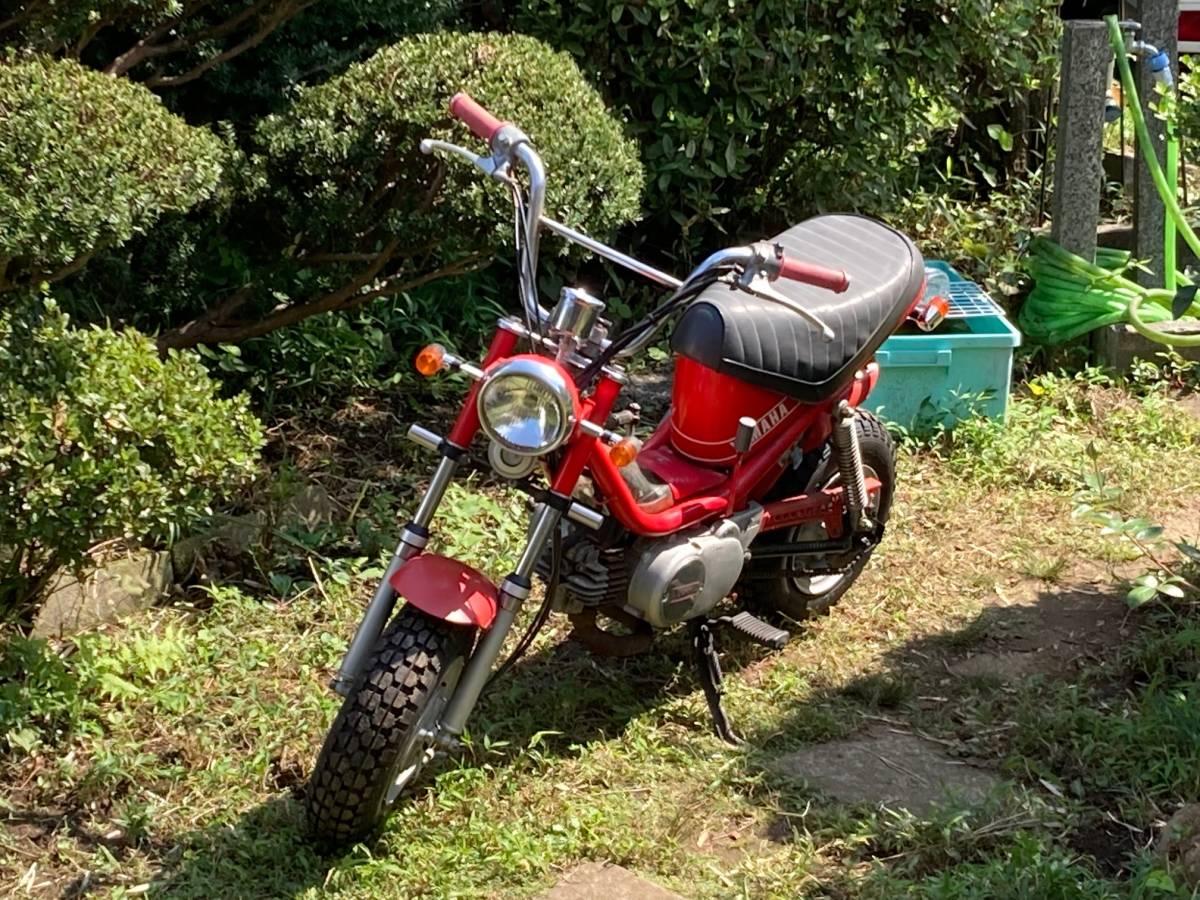 「ヤマハ チャッピー 50cc エンジン実動 レストア途中 関東配達可 引き取り歓迎」の画像1