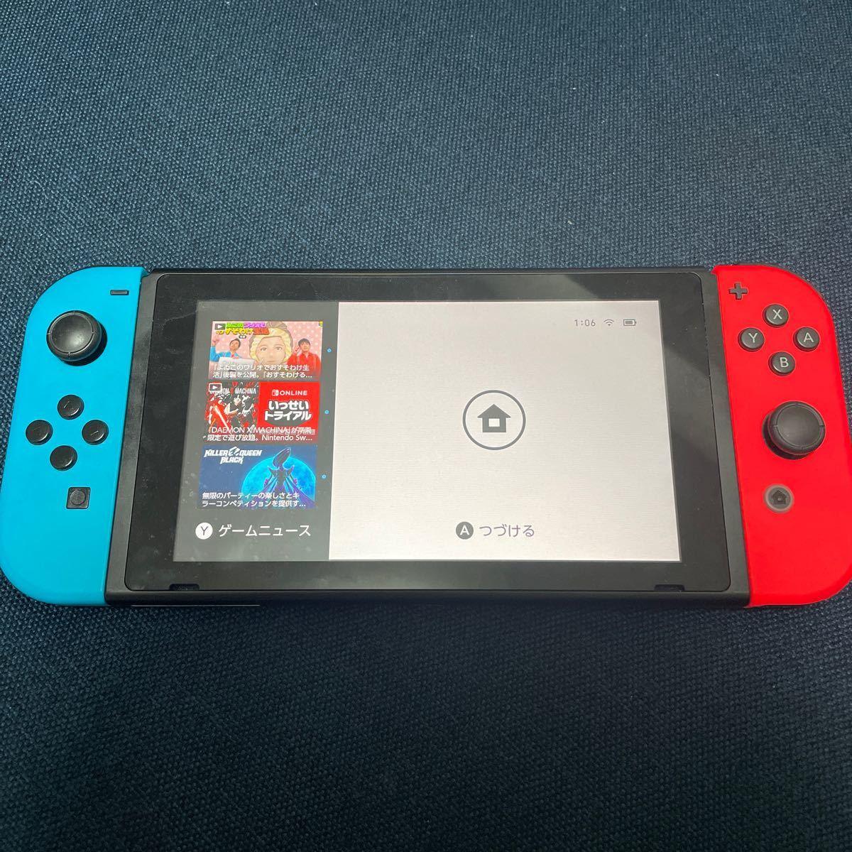 Switch本体 Nintendo Switch ニンテンドースイッチ ネオンカラー ネオンレッド ネオンブルー