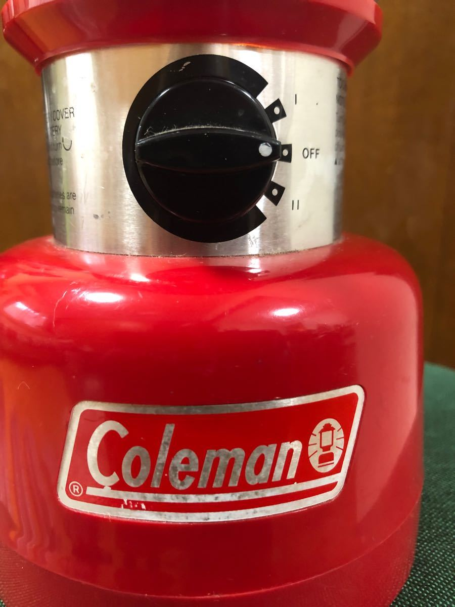 コールマン 電池ランタン ジャンク品