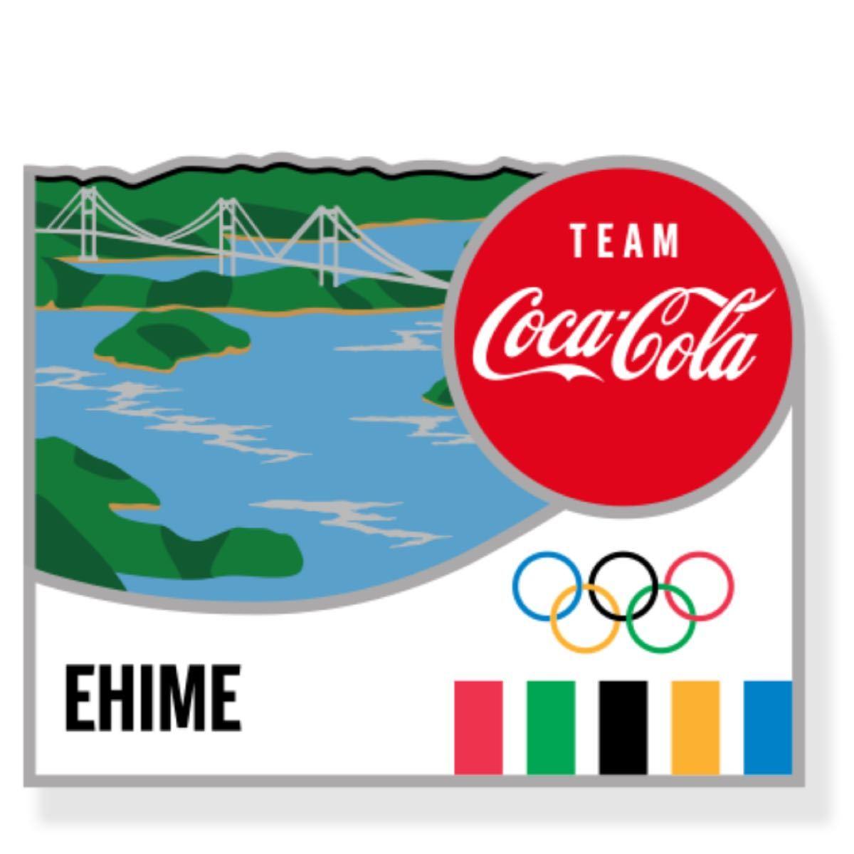 コカコーラ 東京オリンピック ピンバッジ 都道府県 愛媛県 ピンバッチ