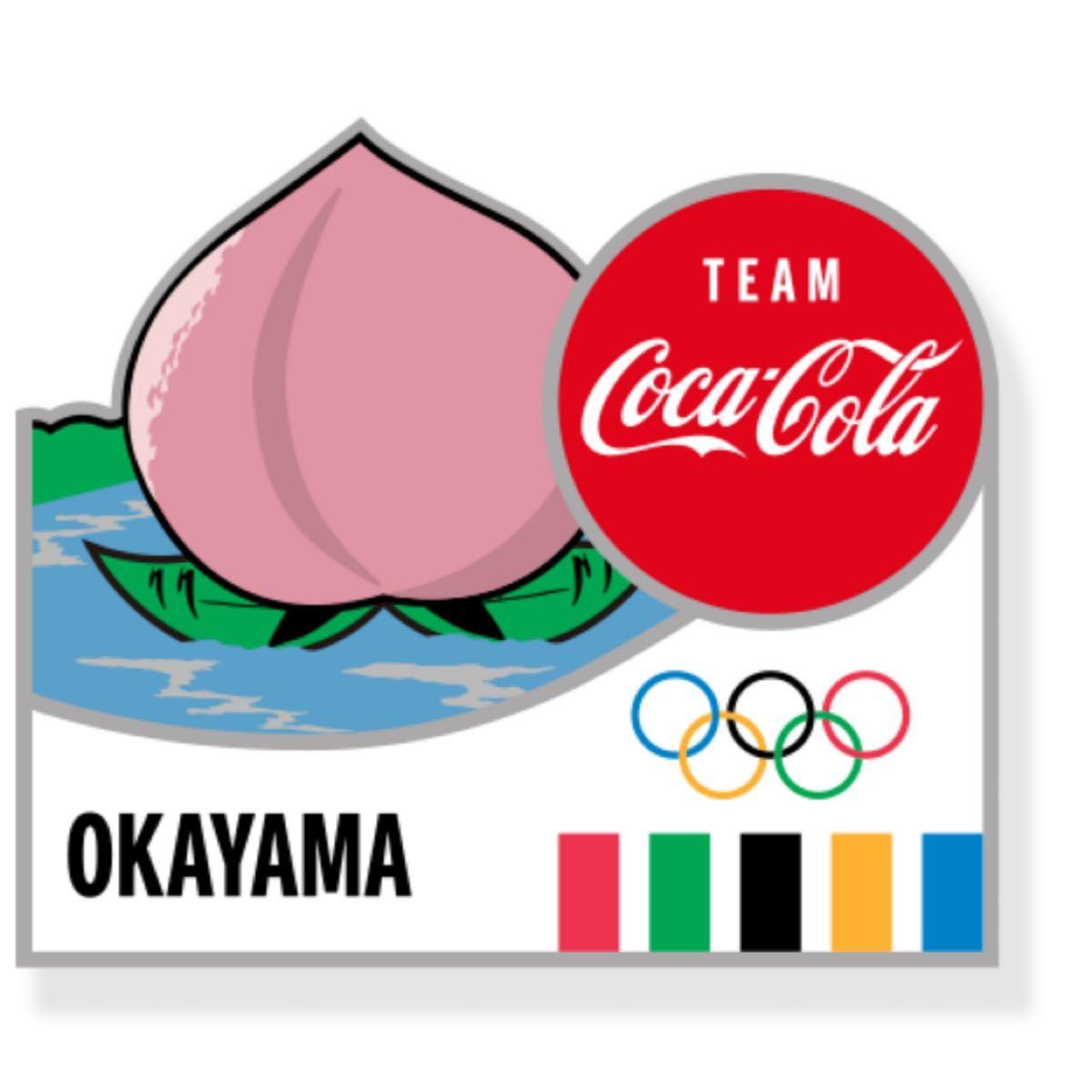 コカコーラ 東京オリンピック ピンバッジ 都道府県 岡山県 ピンバッチ