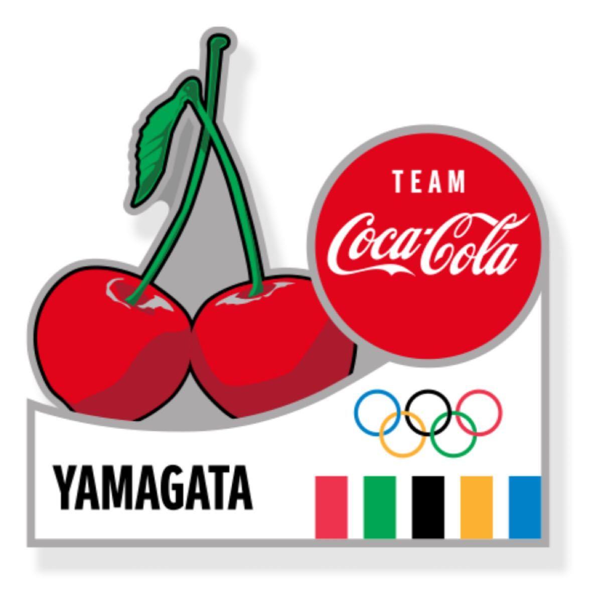 コカコーラ 東京オリンピック ピンバッジ 都道府県 山口県 ピンバッチ