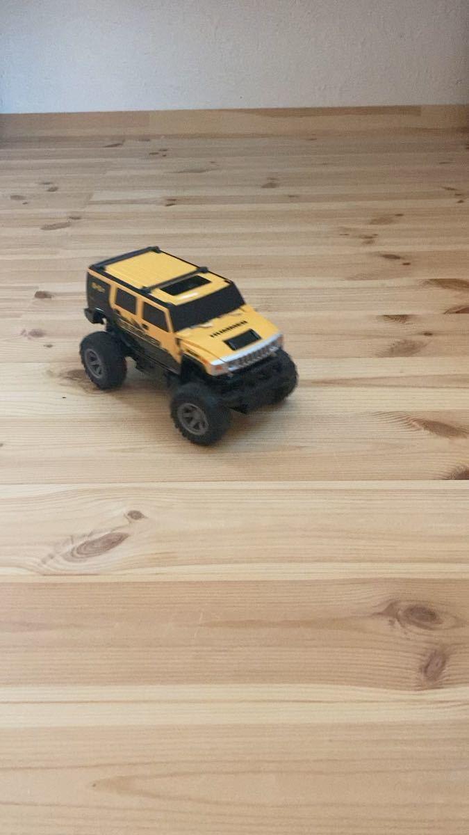 ラジコン ラジコンカー ハマー 黄色 子供 玩具 家庭 室内 野外
