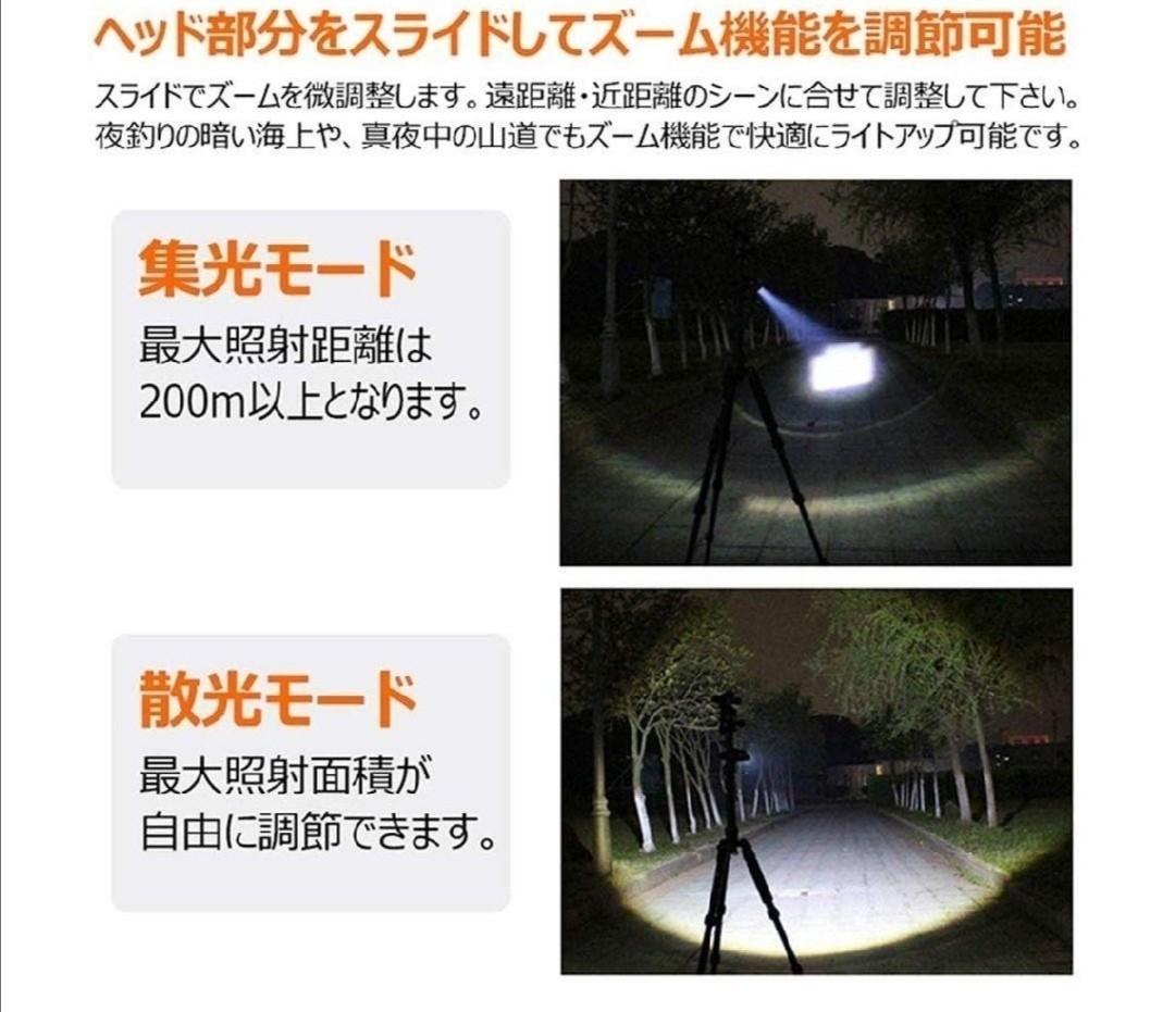 LED懐中電灯 高輝度 ハンディライト