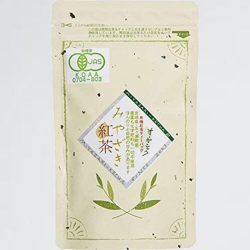 好評 新品 宮崎茶房(有機JAS認定、無農薬栽培)、有機紅茶(ティ-バッグ2g×30p)、 DS_画像1