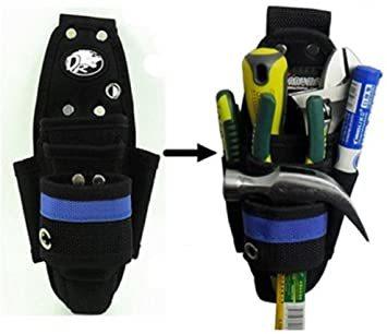 スリムタイプ 工具用ウエストバッグ 大工 電工用 作業効率の良い機能設計 工具差し 工具袋 ポーチ腰袋 ベルトポーチ ツールバッ_画像5