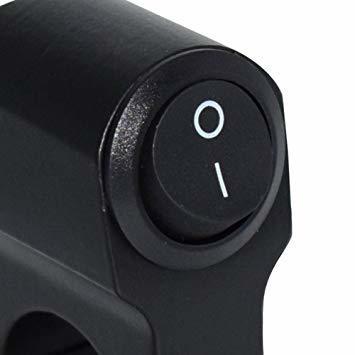 ヘッドライトフォグスポットライトON/OFFスイッチ 防水 12V 22mmハンドルバーオートバイ用_画像2