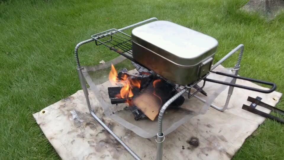 調理も出来る焚き火台 オリジナル 自作