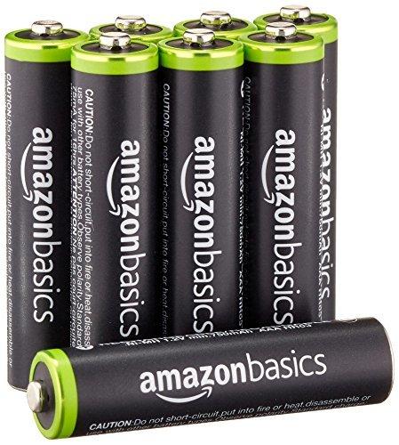 Amazonベーシック 充電式ニッケル水素電池 単4形8個セット 充電池 (最小容量800mAh、約1000回使用可能)_画像1