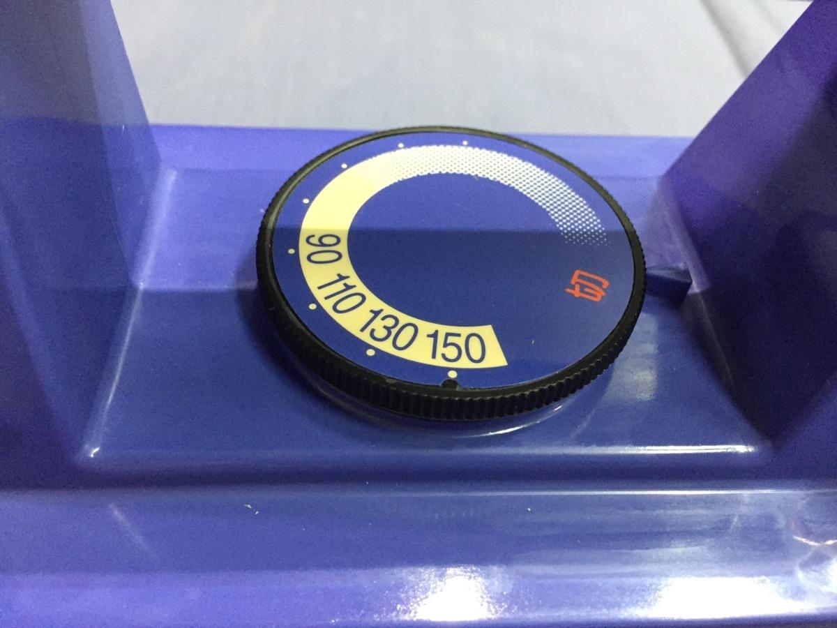 § B20103 Panasonic スキー用アイロン NQ-30-A ブルー ワックスライダー 中古 動作OK スキー スノボ ワックス付き_画像4