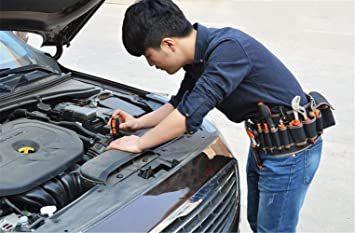 型A [えみり] ツールバッグ ウエストバッグ 腰袋 工具袋 工具収納 ベルト付き 調節可能 多ポケット 大容量 多機能 撥水 _画像3