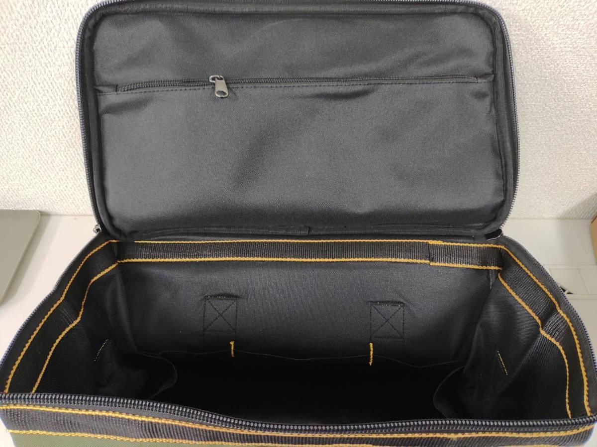 39s2402 Drado ツールバッグ 工具バッグ 工具袋 道具袋 工具差し入れ 肩掛けベルト付き 42㎝×23㎝×28㎝_画像5