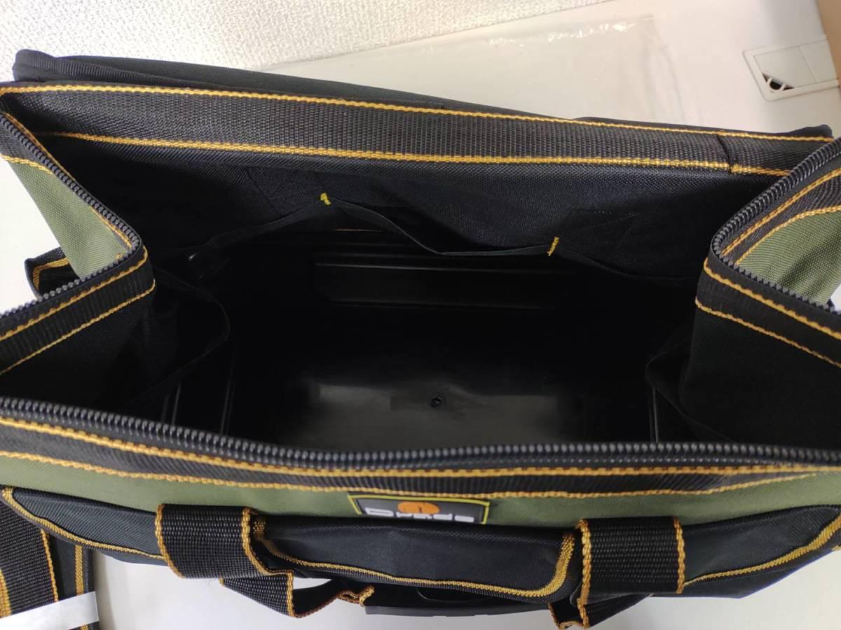 39s2402 Drado ツールバッグ 工具バッグ 工具袋 道具袋 工具差し入れ 肩掛けベルト付き 42㎝×23㎝×28㎝_画像7