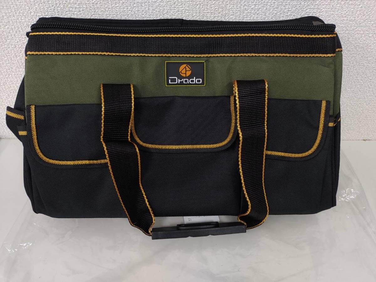39s2402 Drado ツールバッグ 工具バッグ 工具袋 道具袋 工具差し入れ 肩掛けベルト付き 42㎝×23㎝×28㎝_画像8
