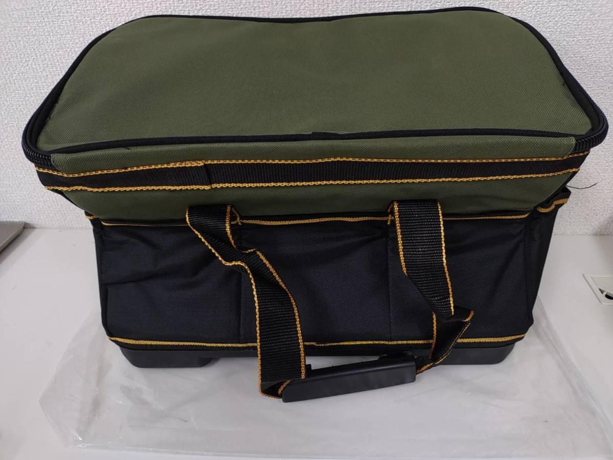 39s2402 Drado ツールバッグ 工具バッグ 工具袋 道具袋 工具差し入れ 肩掛けベルト付き 42㎝×23㎝×28㎝_画像3