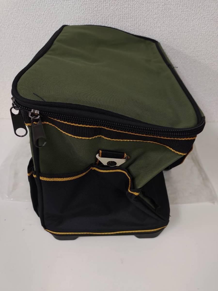 39s2402 Drado ツールバッグ 工具バッグ 工具袋 道具袋 工具差し入れ 肩掛けベルト付き 42㎝×23㎝×28㎝_画像2