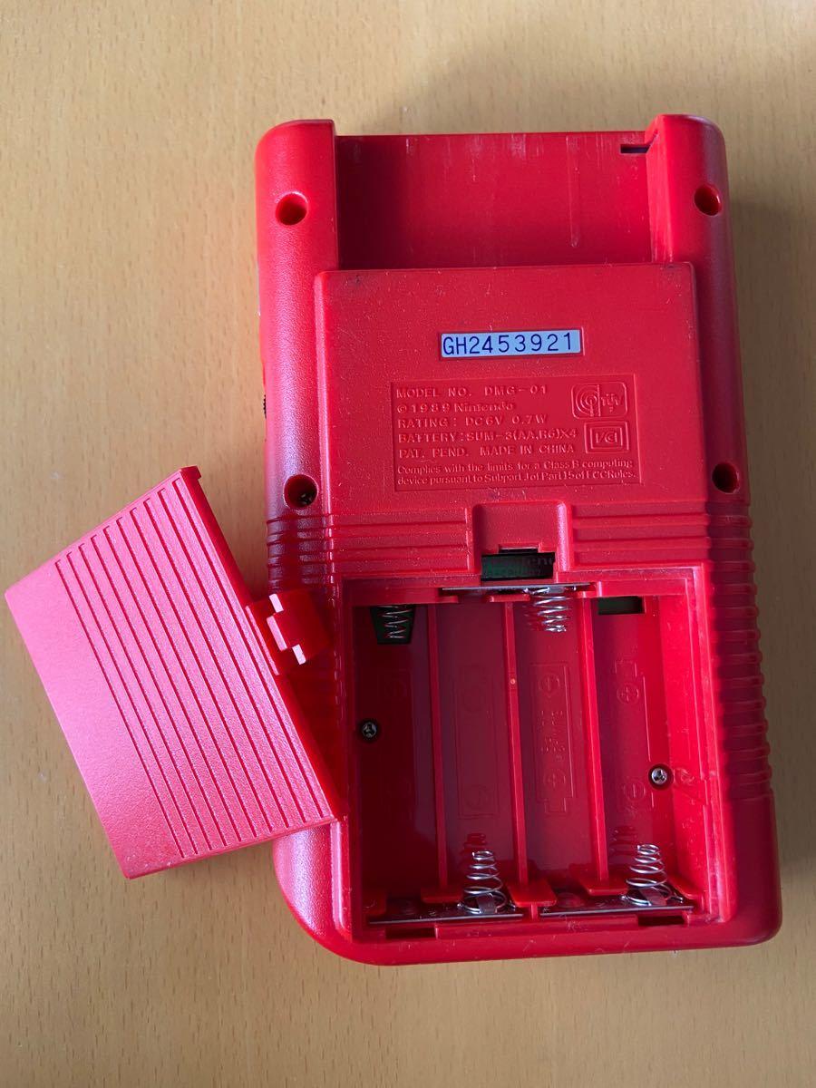 ゲームボーイ初代レッド&ゲームソフト4点&充電式アダプター