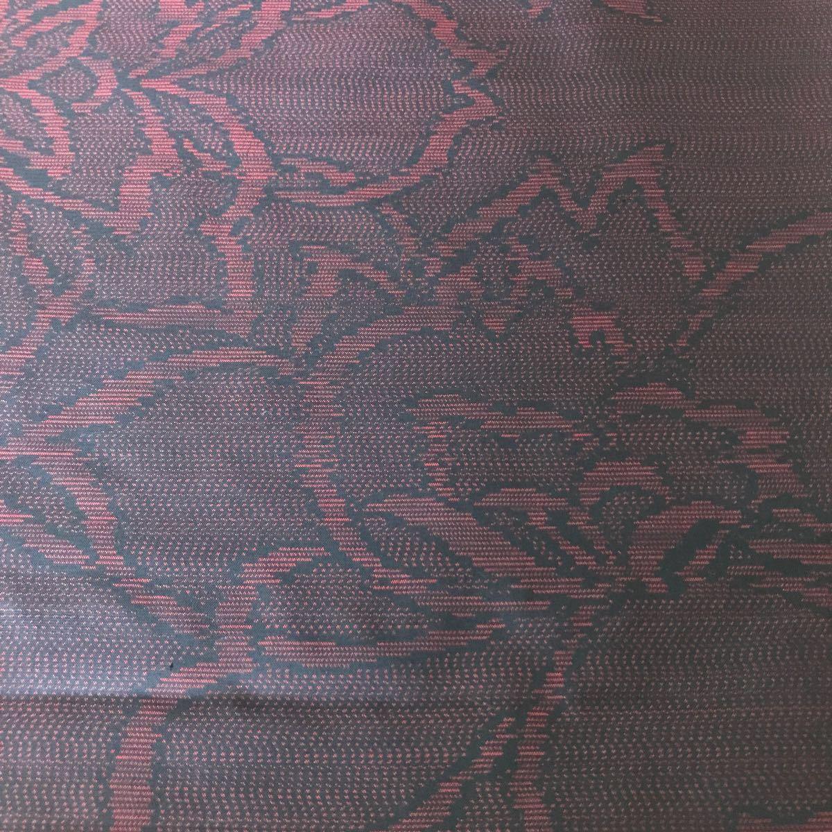 ★おまとめ品 大島紬花 赤黒★ 117 古布 正絹 着物リメイク アンティーク リメイク 花模様 はぎれ