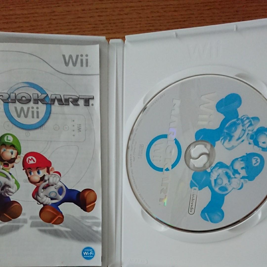 Wiiソフト マリオカート ハンドル Wiiリモコン セット