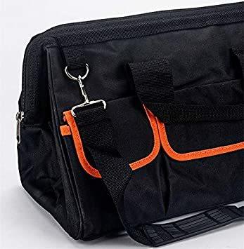 幅30cm ツールバッグ 工具バッグ 工具差し入れ 道具袋 大口収納 手提げ 作業用 持ちやすい 折りたたみ 撥水処理 耐摩耗 _画像4