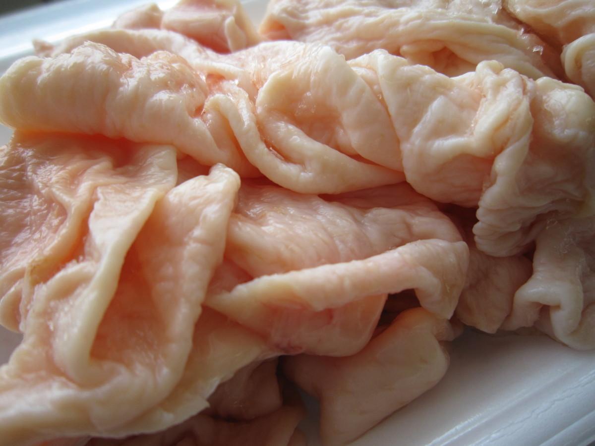 国産若鶏の皮 約0.5kg 【個数:2】_画像1