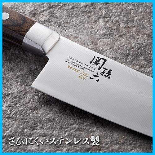 4C 新品 AB5437 165mm べにふじ 三徳包丁 在庫限り 関孫六 KAI 日本製 新品 貝印_画像3