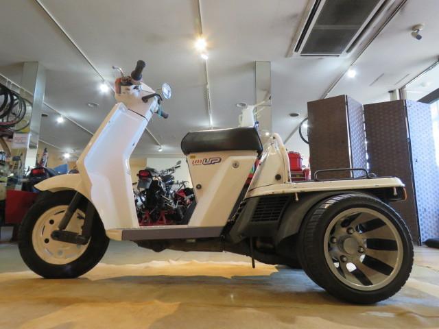 「□HONDA GYRO UP TA01 ホンダ ジャイロアップ 50cc 5164km ホワイト ミニカー登録 実動! 原付 原チャリ スクーター バイク 札幌発」の画像2