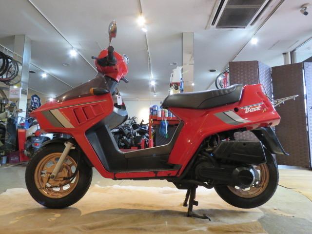 「□HONDA BEAT AF07 ホンダ ビート 50cc 1246km 1983年式 レッド タイヤバリ山! 実動! 原付 原チャリ スクーター バイク 札幌発」の画像2