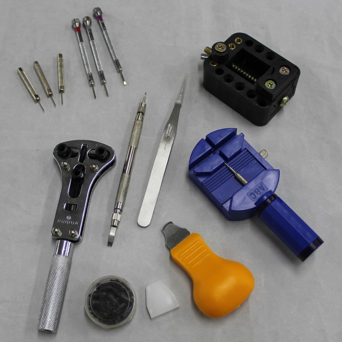 腕時計修理工具 13点セット 時計修理 電池交換 ベルトの長さ調整 裏蓋こじ開けツール ミニ精密ドライバー_画像2