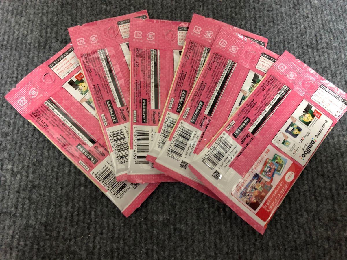 ♪ 送料無料 ♪ とびだせどうぶつの森 amiibo サンリオキャラクターズ 6パックセット カード