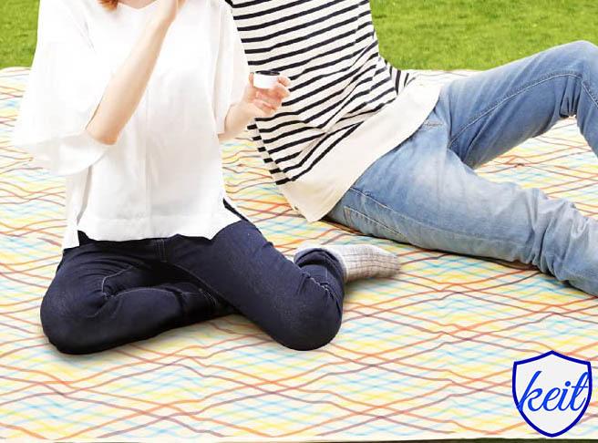 レジャーシート キャンプ ピクニック マット アウトドア 青 ブルー ktam34