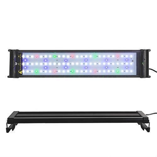 ! アクアリウム 2色LEDライト 水槽ライト 超明るい 50~70CM対応 超薄い 省エネ16W 水槽照明 観賞魚飼育 水草育成 90LED 長寿命_画像1