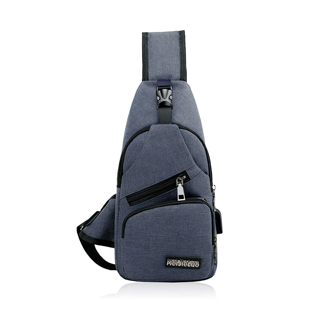 ボディバッグ ショルダーバッグ メンズ ワンショルダー バッグ 斜めがけ 軽量 小さめ(ブルー)