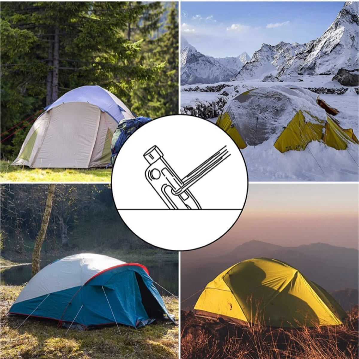 アウトドア 鍛造ペグ スチール ソリッド テント ペグ テーク キャンプ 40cm