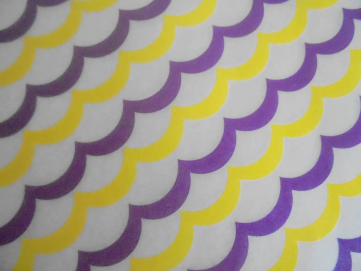 未使用 ワックスペーパー 5枚セット ストライプ チェック ラッピング 包装 紙手芸 紙もの ハンドメイド クラフト_画像5