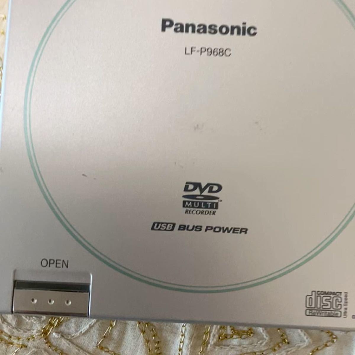 Panasonic 外付け ポータブルDVD DVDマルチドライブ パナソニック LF-P968C USB 動作品 使用感あり