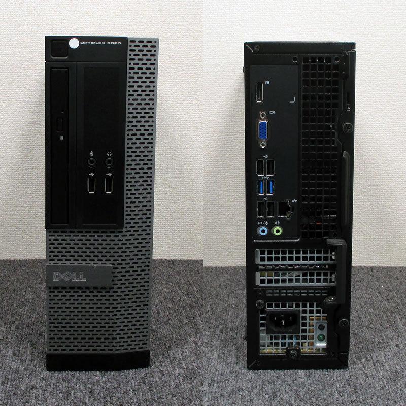 no. 4 поколение Corei7 установка *DELL OPTIPLEX 3020 Core i7-4790s(3.2G/4C/8T/Haswell) память 8GB HDD500GB Win10/Office#2-1107