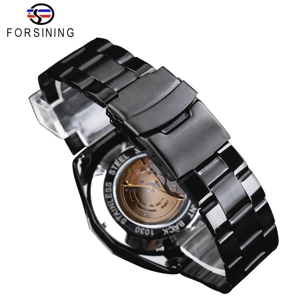 【送料無料】メンズ腕時計 43mm 機械式 自動巻き 多機能 カレンダー 曜日表示 男性ウォッチ 夜光 防水 ファション ブラック*_画像4