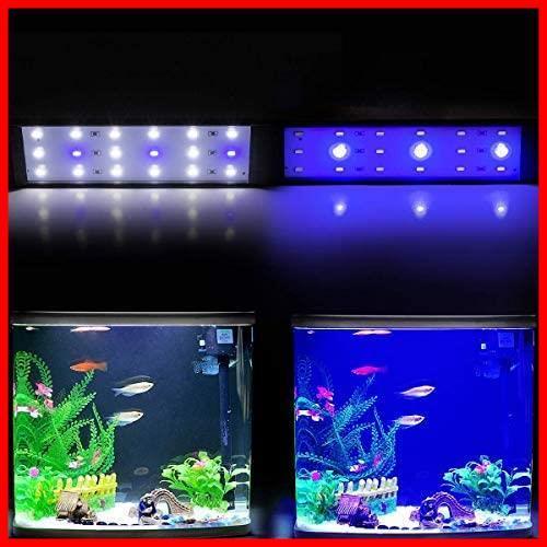 LED水槽用ライト アクアリウムライト 調節可能 ミニエコライト 水槽用 ライト LED白15枚+青3枚 9W 省エネ 長寿命 照明 熱帯魚 観賞魚_画像7