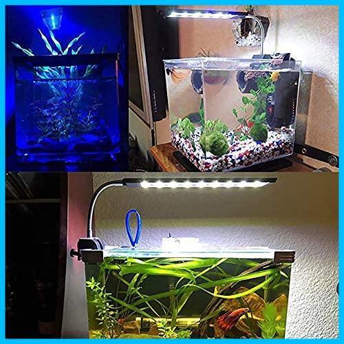 LED水槽用ライト アクアリウムライト 調節可能 ミニエコライト 水槽用 ライト LED白15枚+青3枚 9W 省エネ 長寿命 照明 熱帯魚 観賞魚_画像8