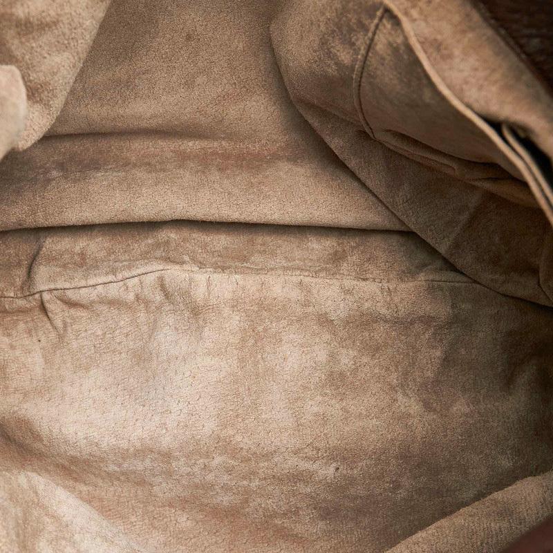 ボッテガヴェネタ イントレチャート ブラウン レザー ワンショルダー  レディース BOTTEGAVENETA 中古_画像6