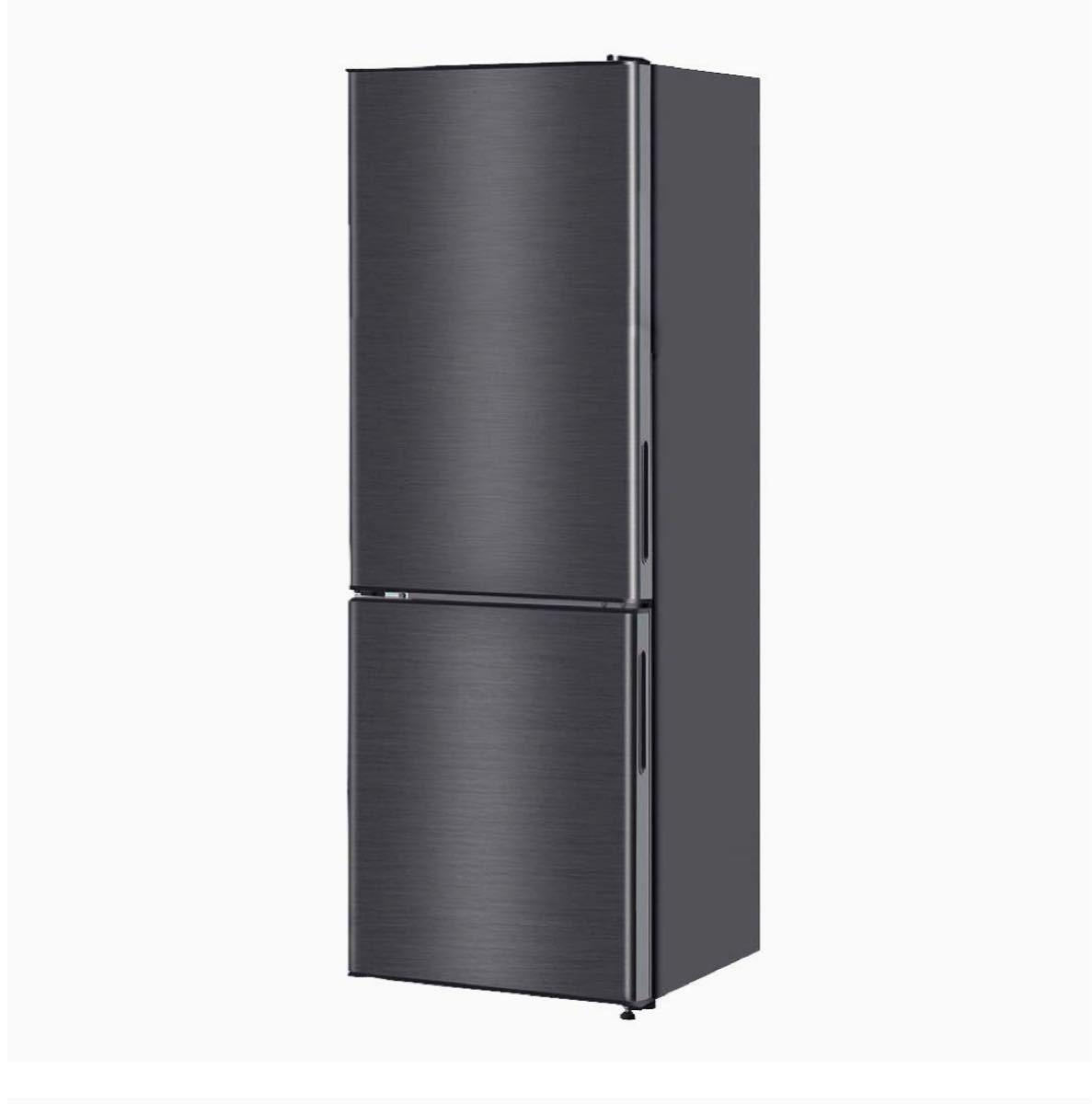 【値下げ可能!】冷蔵庫 157L 大容量 2ドア コンパクトガンメタリック 黒