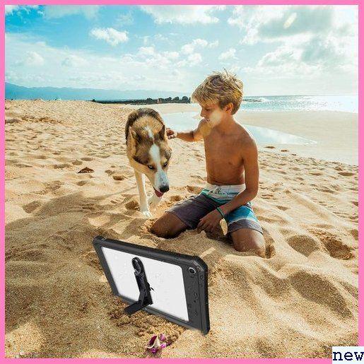 新品★zuqlk iPad/mini5/防水ケース/アイパッド/mini 付き ア/全面保護/スタンド機能/お風呂/プール 391_画像7