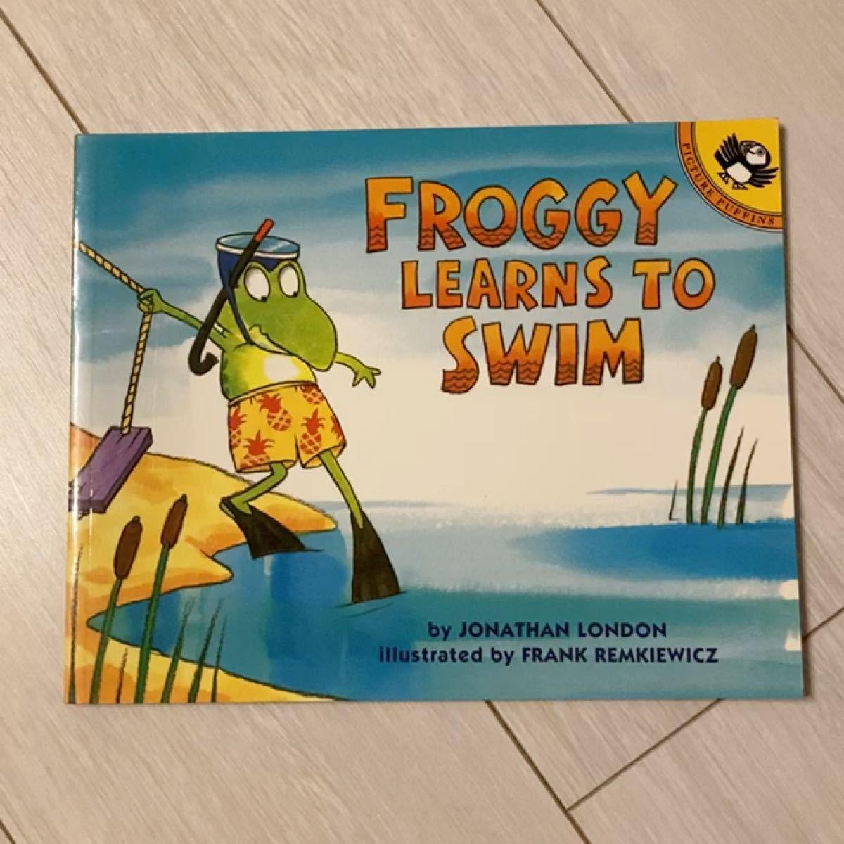 【英語絵本】Froggy learns to swim
