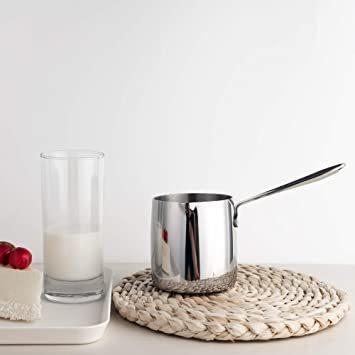 ☆新品☆ シルバー 370ml IMEEA ミルクパン 片手鍋 18-10ステンレス IH対応ミルクパン ミニミルクパン シルバー_画像5