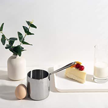 ☆新品☆ シルバー 370ml IMEEA ミルクパン 片手鍋 18-10ステンレス IH対応ミルクパン ミニミルクパン シルバー_画像3